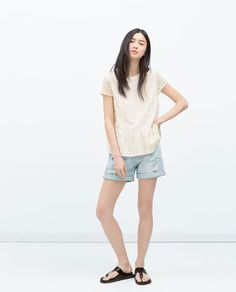 ZARA - NEW THIS WEEK - LACE TOP WITH FRILLS
