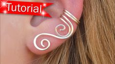 I will teach you how to make a pair of cascade swirl ear cuffs from start to finish. Start making money today selling these. This is my best selling ear cuff. Ear Cuff Jewelry, Cuff Earrings, Skull Jewelry, Hippie Jewelry, Jewellery, Bijoux Wire Wrap, Wire Wrapped Jewelry, Wire Jewelry Designs, Handmade Wire Jewelry