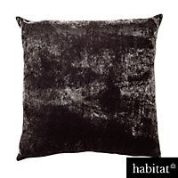 Habitat Regency Black Velvet Cushion