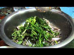 How to make Mok Pa Siew Ban Na (Steamed Minnow Fish in banana leaf)