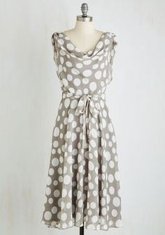 Undeniably Adorable Midi Dress in Dots
