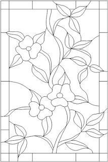 Vintage Style Stained Glass - Baltimore/Washington DC: More Patterns . - Vintage Style Stained Glass – Baltimore/Washington DC: More Patterns - Glass Painting Patterns, Stained Glass Patterns Free, Glass Painting Designs, Stained Glass Quilt, Making Stained Glass, Stained Glass Flowers, Stained Glass Crafts, Faux Stained Glass, Stained Glass Designs