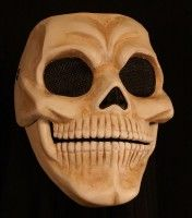 Skull Mask with Moveable Jaw custom designed by Jonathan Becker at theater-masks.com
