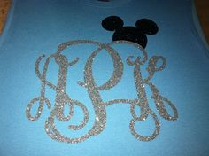 Disney Mickey Mouse Glitter Monogrammed Shirt by TShirtTime04