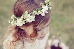 Flower girl crown - Google Search