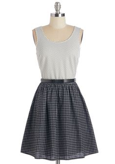 0167b422616 Case of the Checks Dress. Mix it up as you mingle in this delightful twofer