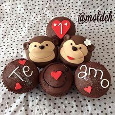 Cupcakes de changuitos enamorados <3 // Monkeys in love Cupcakes // Love and Cupcakes
