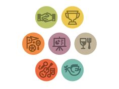 Unused Event Icons by Eric R. Mortensen on dribbble.