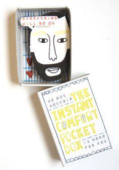 """""""Instant Comfort Pocket Box"""" by Netherlands based illustrator Kim Welling"""