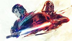 Star Wars Anakin Skywalker and Darth Vader Anakin Vader, Vader Star Wars, Anakin Skywalker, Star Wars Pictures, Star Wars Images, Star Wars Fan Art, Star Wars Brasil, Arte Dope, Cuadros Star Wars