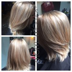 Balayage ombre and cut