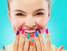 bright colourful nails Summer 2014
