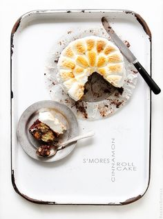 Smores Cinnamon Roll Cake {Bakers Royale}