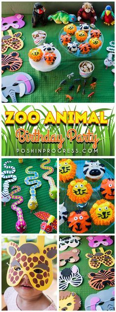 We threw Giada a zoo animal themed birthday party. She loves the zoo and animals, so it was a lot of fun decorating with a couple of simple DIY projects.