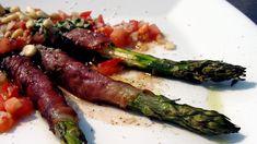 Grillet asparges med skinke
