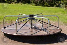 vintage playground equipment   Playground Equipment stock photo, A playground merry-go-round in the ...