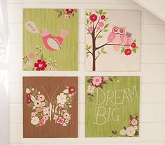Woodland Plaques | Pottery Barn Kids - Something else Diana can paint :)