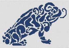 Tribal Frog - Cross Stitch Pattern