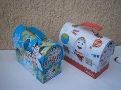Kinder Surprise Choco Box Toy Lunch Metal Case Tin Box Lot 2 | eBay