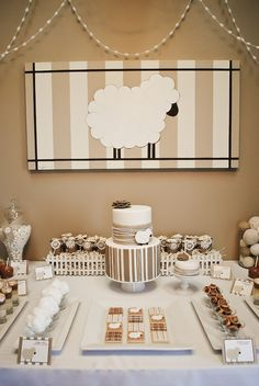 Little Lamb Neutral Baby Shower Ideas....SO perfect for the team baby showers, mom's with both baby genders!