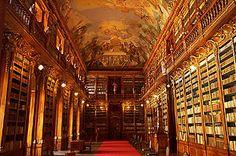 Strahov Library in Prague. A girl can dream.