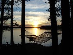 The view from our camp site at the Turtle Flambeau Flowage near Mercer, WI
