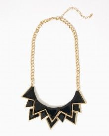 fb87b3c0c7 Make it a point to be fiercely fabulous in this faceted jewel bib statement  necklace. You ll be a style leader when you pair this bold piece with  everything ...