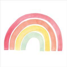 Rainbow Drawing, Rainbow Painting, Rainbow Art, Rainbow Pastel, Rainbow Images, Image Arc En Ciel, Nursery Prints, Nursery Art, Doodle Drawing