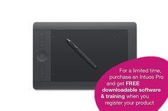 Wacom Intuos Pro - Professional Pen & Touch Tablet - Medium PTH651