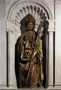DONATELLO St Louis of Toulouse 1421-25 Gilded bronze, height 226 cm Museo dell'Opera di Santa Croce, Florence