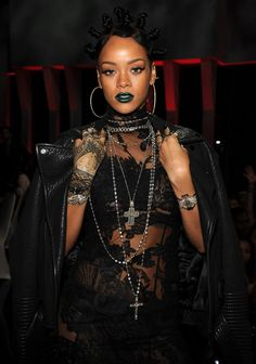 4.30.14  Rihanna in Givenchy F/W08 HC to  IHEARTRADIO Music Awards at Shrine Auditorium in L.A.