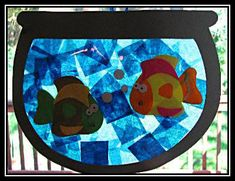 Pets Theme - Preschool: Tissue Paper suncatchers