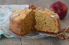 TORTA DI MELE CON RICOTTA E NOCI alta e sofficissima, ricetta torta di mele facile e morbida, con noci e ricotta nell'impasto