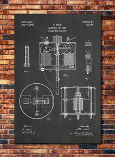 Nikola Tesla Arc Lamp Patent by CatkumaPatentPress on Etsy