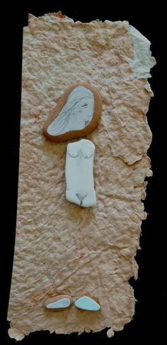 Ero alta, magra e amavo, Fernanda Menendez. Handmade paper and Eolic's traces.