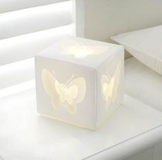 Butterfly Box Lamp, shadow light effect through the butterfly design - love this!
