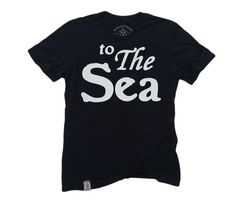 To The Sea: Short Sleeve T-Shirt in Black