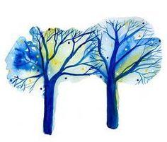watercolour trees - Google-Suche