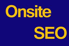 do onsite seo of your website
