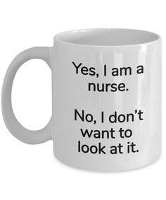 Male Nurse Gifts - Yes Im a nurse - Coffee mug tea cup - for Christmas Birthday Any occasion - Coffee Mug Quotes, Funny Coffee Mugs, Funny Mugs, Funny Nurse Quotes, Nurse Humor, Rn Humor, Rn Nurse, Nursing Quotes, Gifts For Male Nurses