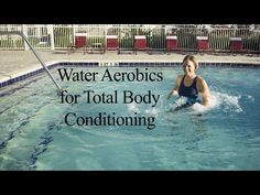 Aqua Aerobics Exercises - say goodbye to love handles with water dumbbell workout routine - YouTube