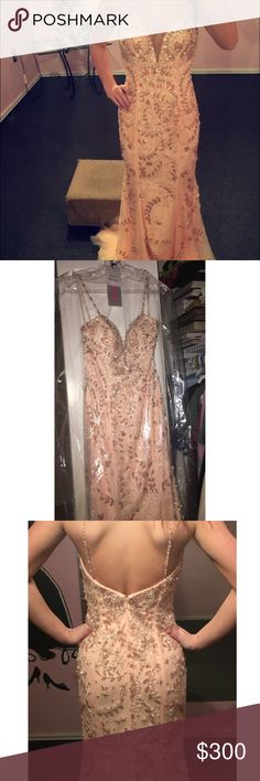 Jovani Pink Size 0 Prom Dress Jovani Pink size 0 prom dress for sale for $300. Originally bought for $700 and worn only once. Elegant beading and embroidering all along the dress. Jovani Dresses Prom