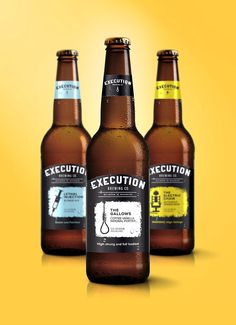 Execution Brewing Co Fictitious Craft Beer. Designed by: Timothy McAtee, USA.