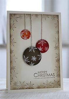 gescrappt und gestempelt: Kugelige Weihnachten
