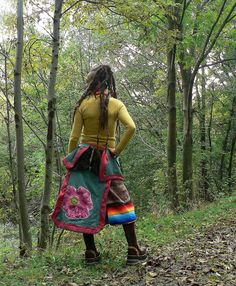 long winter skirt with ethnic patchwork от freaksbazar на Etsy