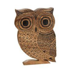 Debenhams Wooden carved nordic owl ornament- at Debenhams.com