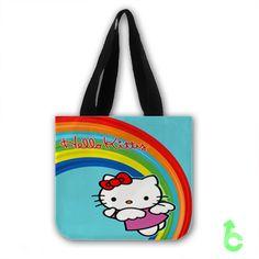 Cheap hello kitty rainbow Tote Bags