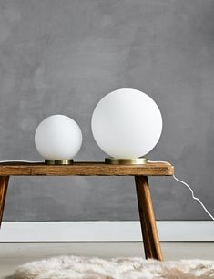 White Glass Ball Table Lamp - Two Sizes Available Home Accessories Stores, Victorian Townhouse, Glass Ball, Light Table, Fairy Lights, Contemporary Furniture, Simple Designs, Interior Inspiration, Table Lamp