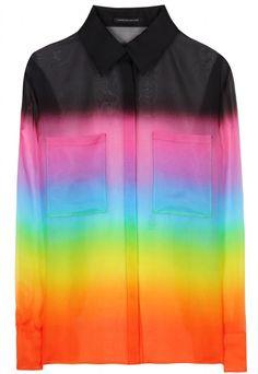 christopher kane rainbow shirt