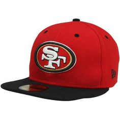7311bd44a26 New Era San Francisco Two-Tone Fitted Hat - Scarlet Black